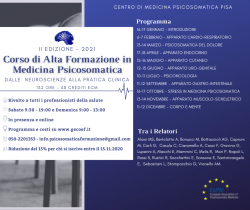 Update: ADVANCED TRAINING COURSE IN PSYCHOSOMATIC MEDICINE 2021 PISA (ITALY)