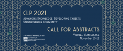 CLP 2021: abstract submission before 1 April 2021